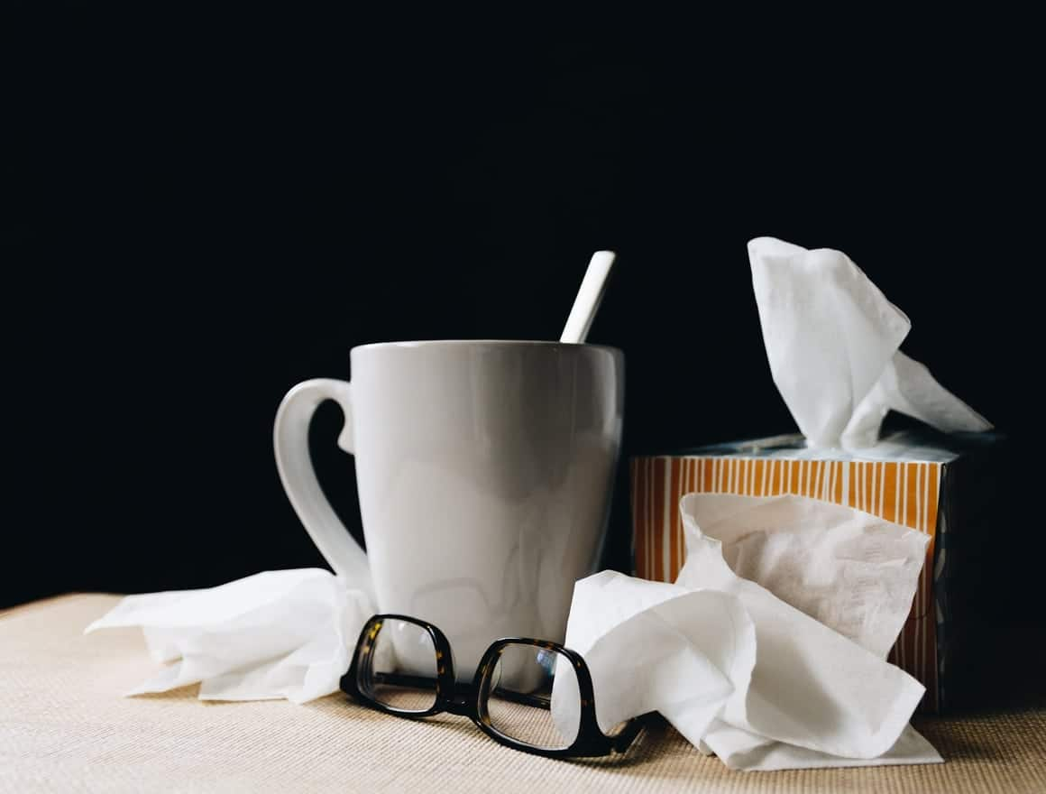 Tissues and a cup of tea for when you have the cold