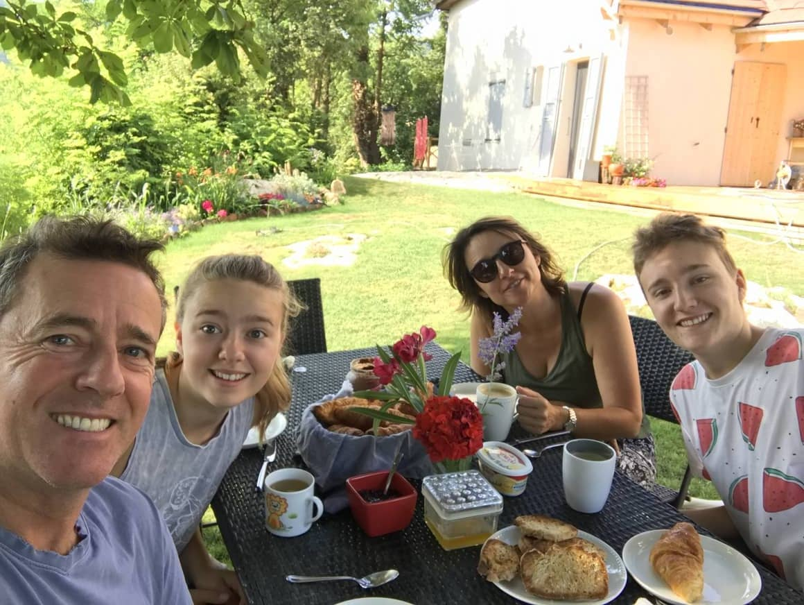 Family taking breakfast together. the key to successful homeschooling