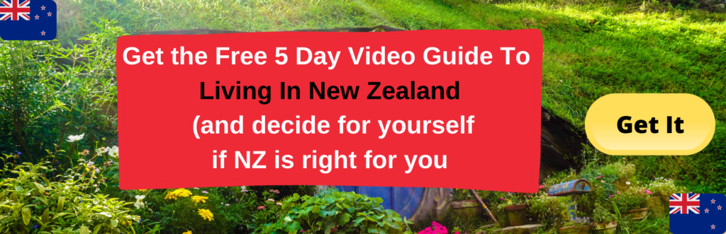 A sign up button for a free video guide about living in New Zealand