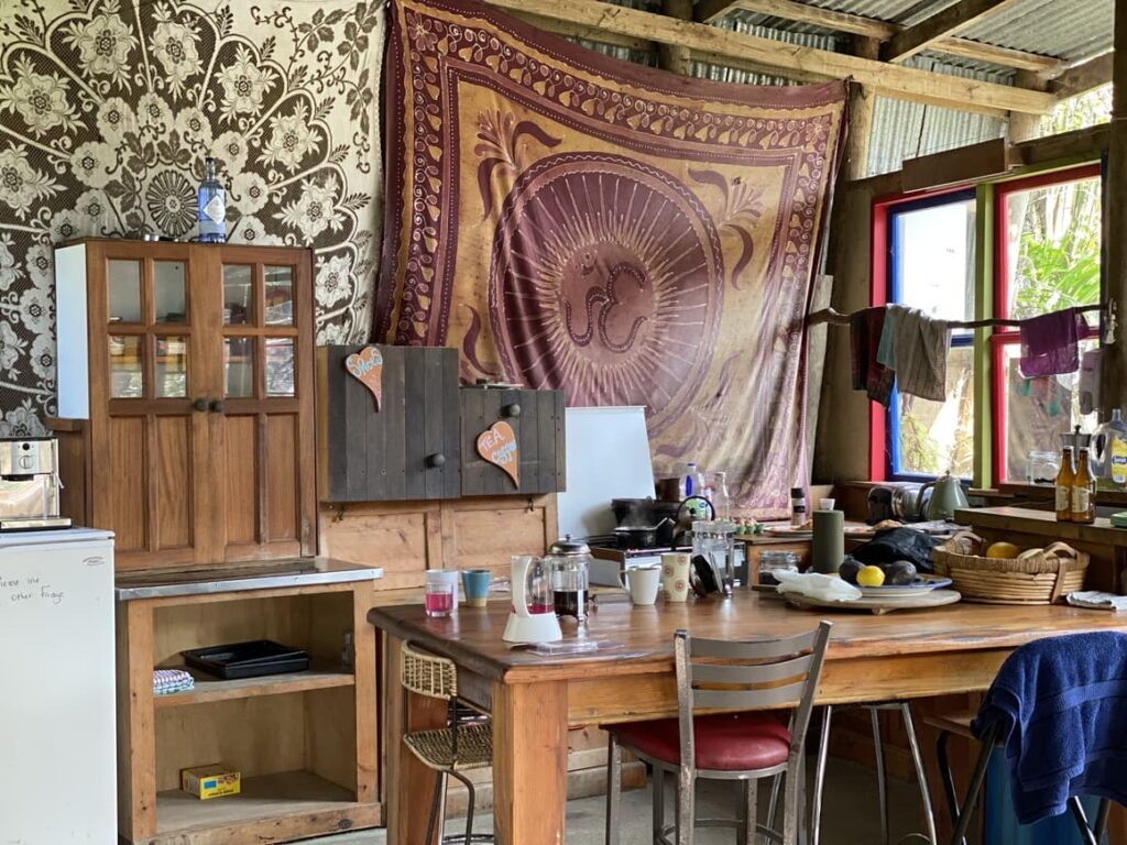 Glamping in New Zealand . A kitchen