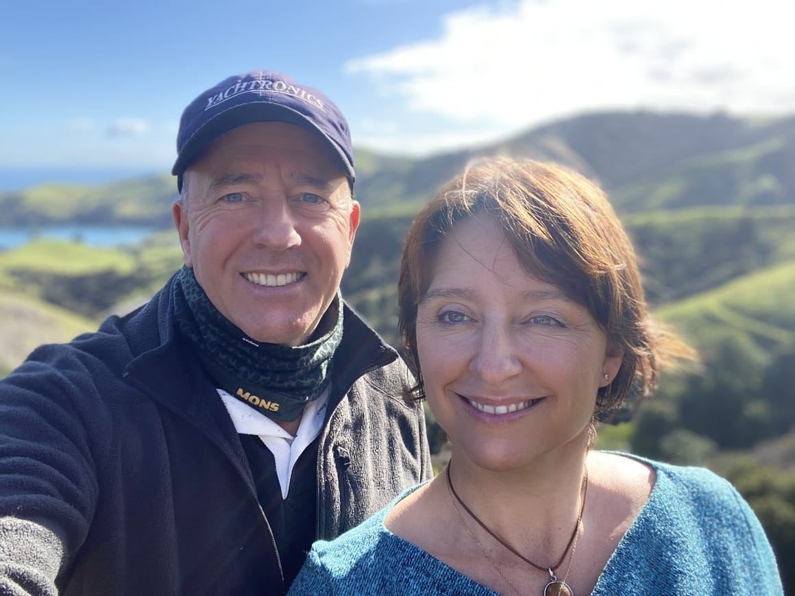 Liz and Brian in the Coromandel. Now page. It's a Drama travel blog