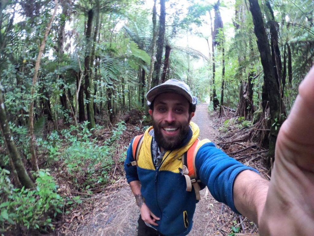 Backpacker spending a year visiting New zealand
