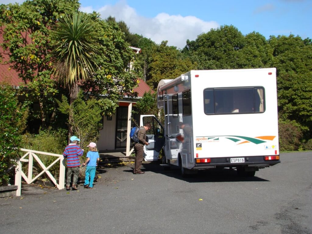Family in campervan in new Zealand. Moving to New Zealand mistakes
