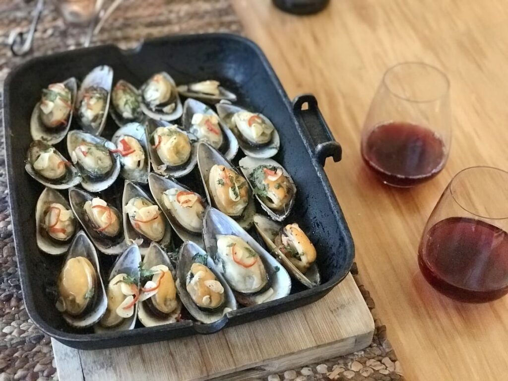 Green lip mussels. A favourite food of New Zealand