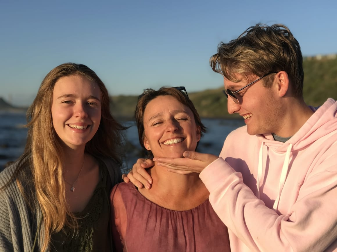 Two teenagers and their mother who homeschooled them.