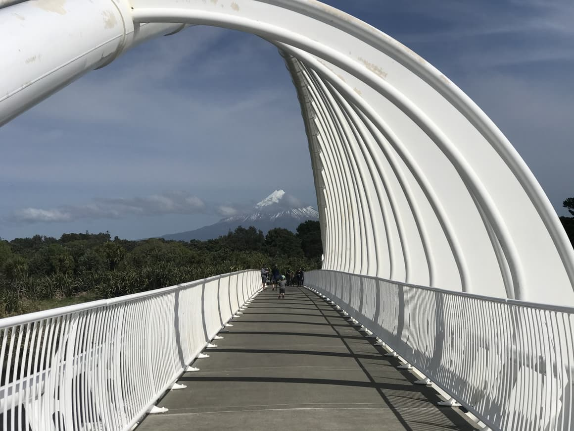 Whalebone bridge in Taranaki, New Zealand