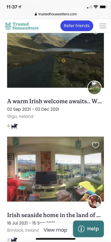 Housesitting advert in Ireland