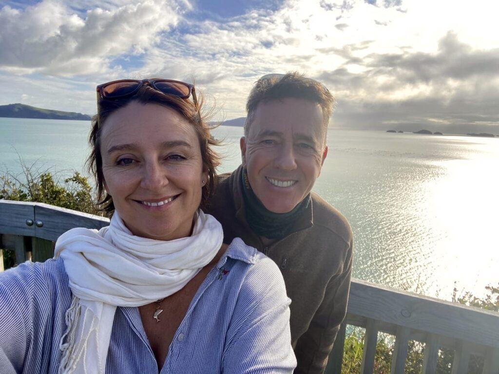 Husband and wife homeschooling team