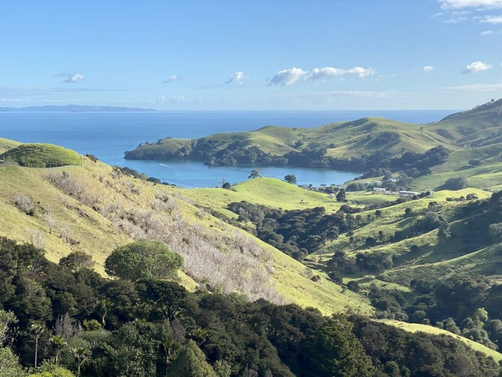 New Zealand scenery. Glamping in New Zealand