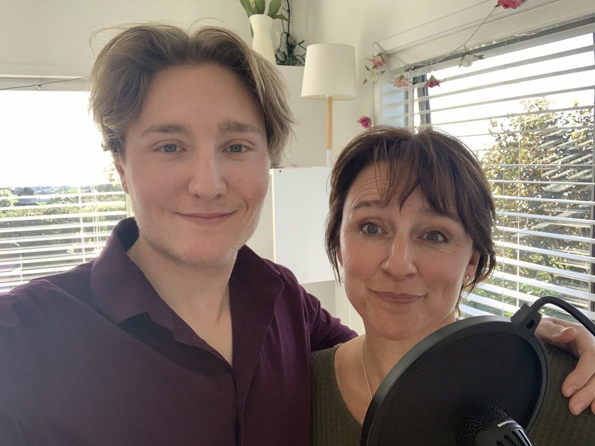 Mother and son doing a family podcast it's a drama now page