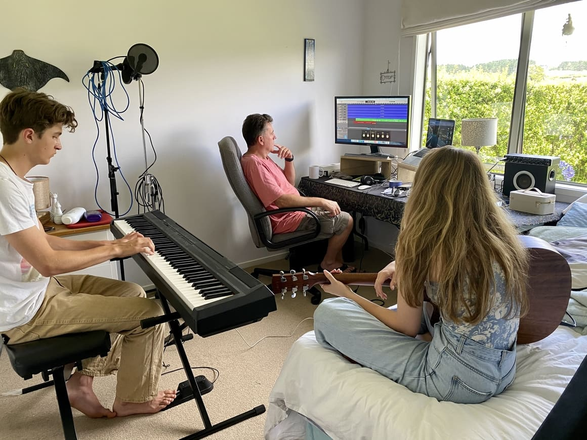 Two teenagers making music in New Zealand